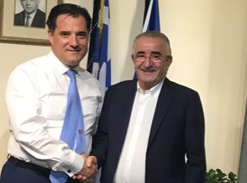 Με τον Α. Γεωργιάδη συναντήθηκε ο πρόεδρος της ΟΑΕ, Μ. Μούσιος